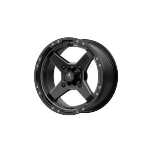 MSA CROSS 16x7 4x137.00 SATIN BLACK W/ TITANIUM TINT (10 mm)  M39-06737
