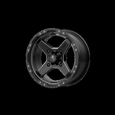 MSA CROSS 16x7 4x156.00 SATIN BLACK W/ TITANIUM TINT (10 mm)