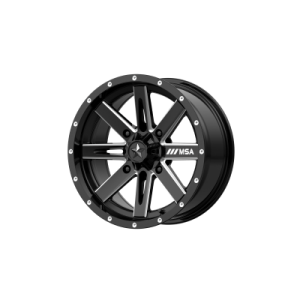 MSA BOXER 18x7 4x137.00 GLOSS BLACK MILLED (10 mm)  M41-018737