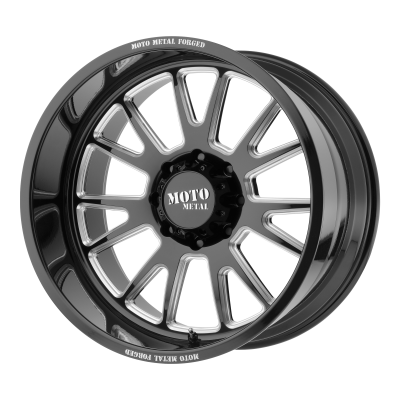 MOTO METAL MO401 20x10 6x139.70 GLOSS BLACK MILLED (-24 mm)