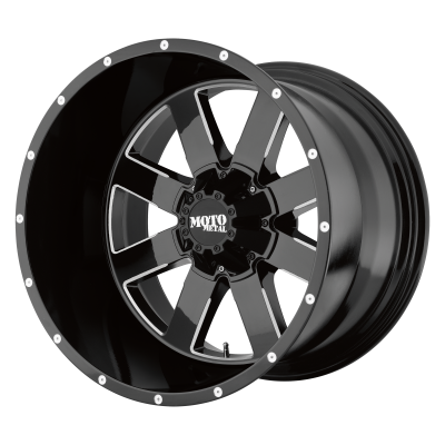 MOTO METAL MO962 18x9 8x180.00 GLOSS BLACK MILLED (0 mm)