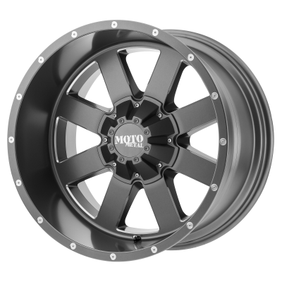 MOTO METAL MO962 22x10 8x180.00 SATIN GRAY MILLED (-18 mm)