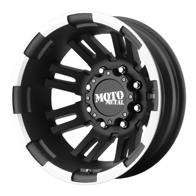 MOTO METAL MO963 DUALLY 17x6 8x165.10 MATTE BLACK MACHINED DUALLY - REAR (-134 mm)  MO96376080794N