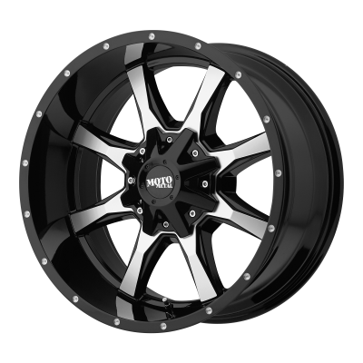 MOTO METAL MO970 18x9 8x180.00 GLOSS BLACK W/ MACHINED FACE (18 mm)