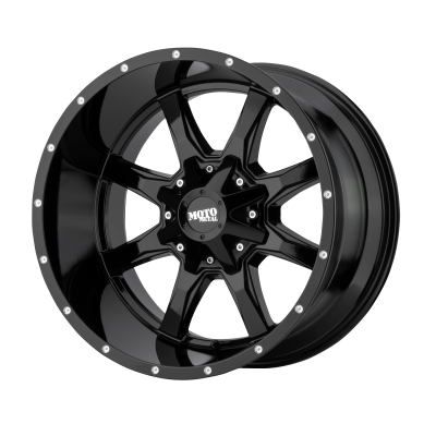 MOTO METAL MO970 18x9 8x180.00 GLOSS BLACK W/ MILLED LIP (18 mm)