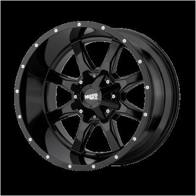 MOTO METAL MO970 18x9 8x180.00 GLOSS BLACK W/ MILLED LIP (18 mm)