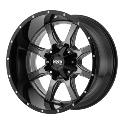 MOTO METAL MO970 18x9 8x180.00 GLOSS GRAY CENTER W/ GLOSS BLACK LIP (18 mm)