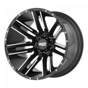 MOTO METAL RAZOR 18x10 8x180.00 SATIN BLACK  MACHINED (-24 mm)