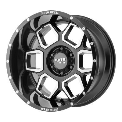 MOTO METAL SPADE 20x10 8x170.00 GLOSS BLACK MACHINED (-24 mm)