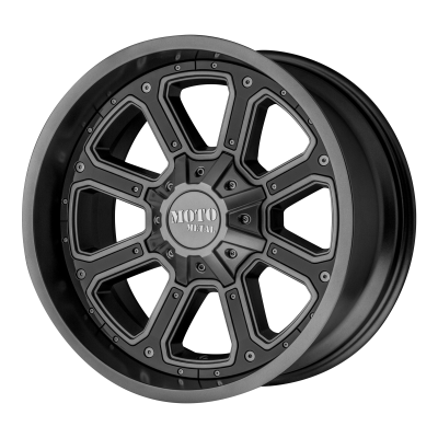 MOTO METAL SHIFT 17x9 6x120.00/6x139.70 MATTE GRAY W/ G-BLK INSERTS (-12 mm)  MO98479078412N