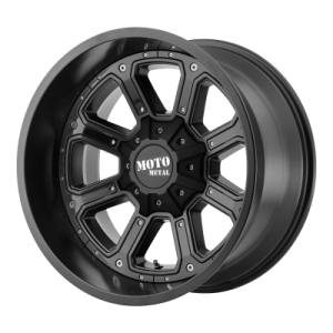 MOTO METAL SHIFT 20x9 8x180.00 MATTE BLACK W/ G-BLK INSERTS (18 mm)