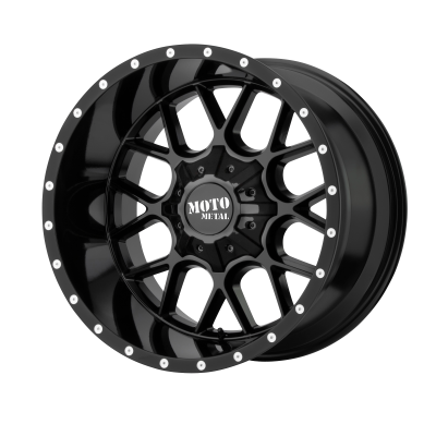 MOTO METAL SIEGE 20x9 8x180.00 GLOSS BLACK (18 mm)