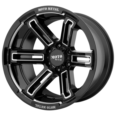 MOTO METAL RUKUS 20x9 8x180.00 GLOSS BLACK MILLED (0 mm)