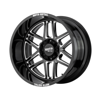 MOTO METAL FOLSOM 20x9 8x180.00 GLOSS BLACK MILLED (18 mm)