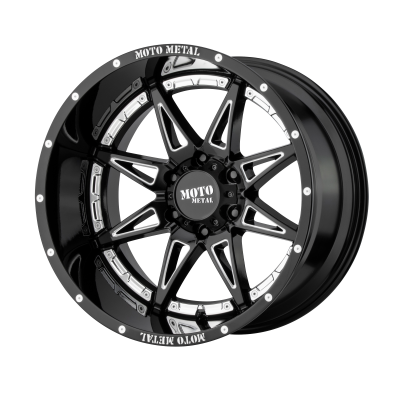MOTO METAL HYDRA 18x8.5 8x180.00 GLOSS BLACK MILLED (18 mm)
