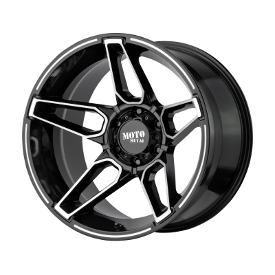 MOTO METAL FANG 20x9 8x180.00 GLOSS BLACK MACHINED (0 mm)