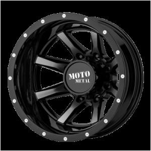 MOTO METAL MO995 17x6.5 8x210.00 GLOSS BLACK MACHINED - REAR (-155 mm)