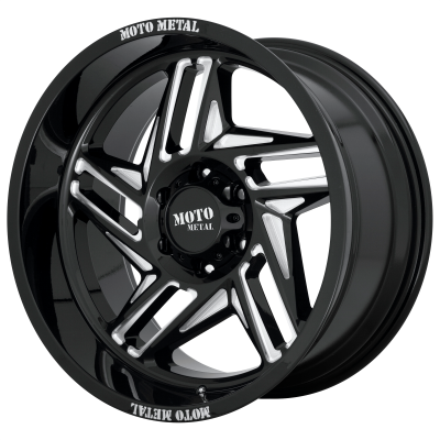 MOTO METAL RIPSAW 20x12 6x139.70 GLOSS BLACK MILLED (-44 mm)
