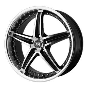 MOTEGI MR107 18x8 5x120.00 GLOSS BLACK MACHINED (42 mm)