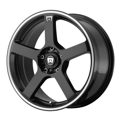 MOTEGI MR116 18x8 5x114.30/5x120.00 GLOSS BLACK W/ MACHINED FLANGE (45 mm)