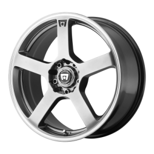 MOTEGI MR116 18x8 5x108.00/5x114.30 DARK SILVER W/ MACHINED FLANGE (45 mm)