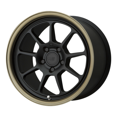 MOTEGI MR135 18x9.5 5x114.30 MATTE BLACK CENTER W/ BRONZE LIP (35 mm)  MR13589512735