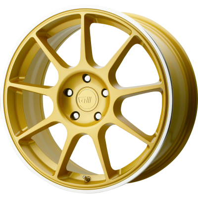 MOTEGI MR138 18x8 5x100.00 GOLD W/ MACHINED LIP (38 mm)  MR13888051638