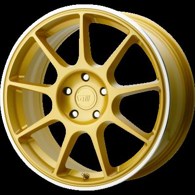 MOTEGI MR138 19x8.5 5x114.30 GOLD W/ MACHINED LIP (45 mm)