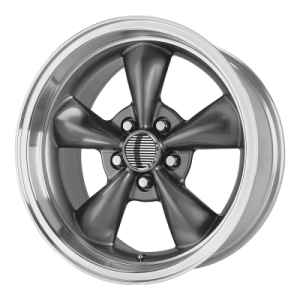 OE CREATIONS 106A 17x8 5x120.65 ANTHRACITE/MACHINED LIP (0 mm)
