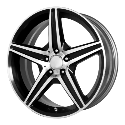 OE CREATIONS 115C 19x9.5 5x112.00 GLOSS BLACK W/ MACHINED SPOKES & LIP (38 mm)
