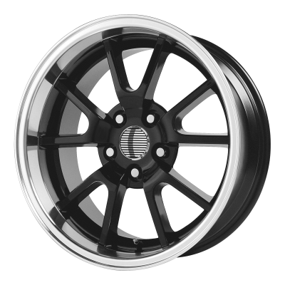 OE CREATIONS 118C 18x9 5x114.30 GLOSS BLACK W/ MACHINED LIP (30 mm)