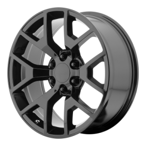OE CREATIONS PR150 20x9 6x139.70 GLOSS BLACK W/ CLEAR COAT (27 mm)