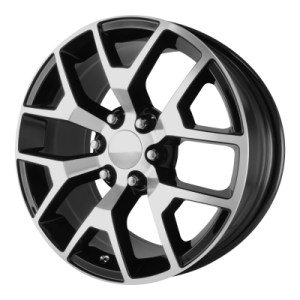 OE CREATIONS PR150 20x9 6x139.70 GLOSS BLACK MACHINED (27 mm)