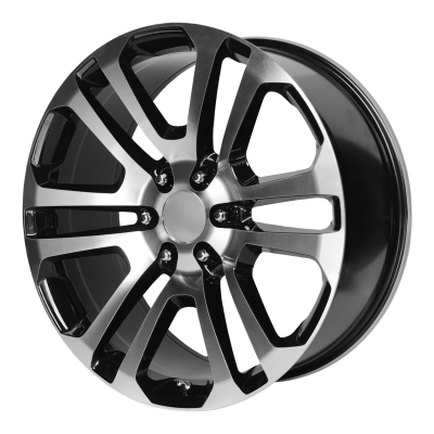 OE CREATIONS PR158 20x9 6x139.70 GLOSS BLACK W/ MACHINED FACE (24 mm)