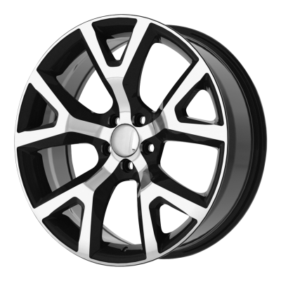 OE CREATIONS PR159 18x7.5 5x110.00 GLOSS BLACK W/ MACHINED FACE (31 mm)