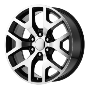OE CREATIONS PR169 20x9 6x139.70 GLOSS BLACK W/ MACHINED SPOKES (27 mm)