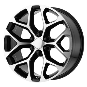 OE CREATIONS PR176 20x9 6x139.70 GLOSS BLACK MACHINED (24 mm)