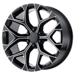 OE CREATIONS PR176 20x9 6x139.70 GLOSS BLACK MILLED (24 mm)