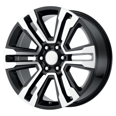 OE CREATIONS PR182 20x9 6x139.70 GLOSS BLACK MACHINED (24 mm)