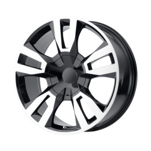 OE CREATIONS PR188 20x9 6x139.70 GLOSS BLACK MACHINED (24 mm)