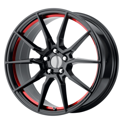 OE CREATIONS PR193 18x9 5x114.30 GLOSS BLACK RED MACHINED (30 mm)