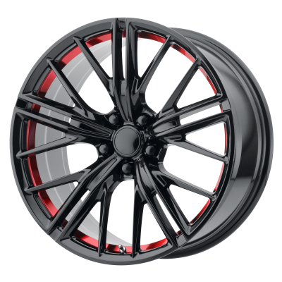 OE CREATIONS PR194 20x9 5x120.00 GLOSS BLACK RED MACHINED (30 mm)