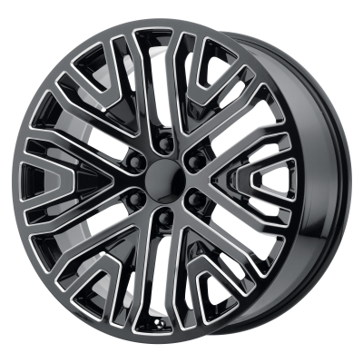 OE CREATIONS PR197 20x9 6x139.70 GLOSS BLACK MILLED (24 mm)