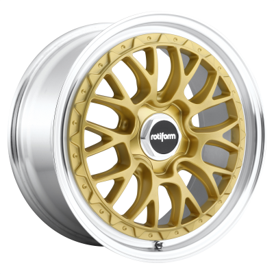 ROTIFORM LSR 19x8.5 5x100.00 MATTE GOLD MACHINED (35 mm)  R156198579+35
