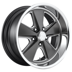 US MAG ROADSTER 20x9.5 5x127.00 MATTE GUN METAL MACHINED (1 mm)