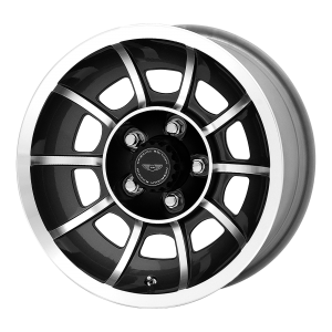 AMERICAN RACING VECTOR 15x8.5 5x114.30 SATIN BLACK MACHINED (6 mm)