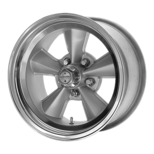 AMERICAN RACING T70R 17x7 5x114.30 GUN METAL W/ POLISHED LIP (0 mm)