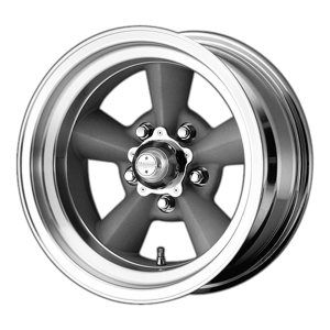 AMERICAN RACING TT O 17x8 5x139.70 VINTAGE SILVER W/ MACHINED LIP (0 mm)