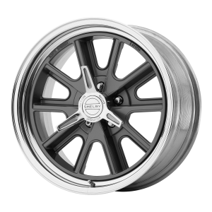 AMERICAN RACING 427 SHELBY COBRA 18x8 5x120.65 TWO-PIECE MAG GRAY CENTER POLISHED BARREL (0 mm)