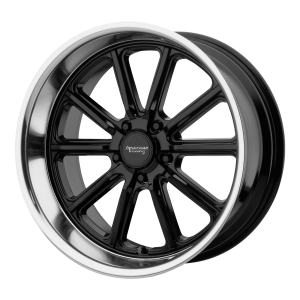 AMERICAN RACING RODDER 18x9.5 5x127.00 GLOSS BLACK W/ DIAMOND CUT LIP (0 mm)